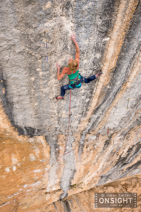 Monique Forestier, Mind Contrtol (8c+, 34), Oliana, Spain.
