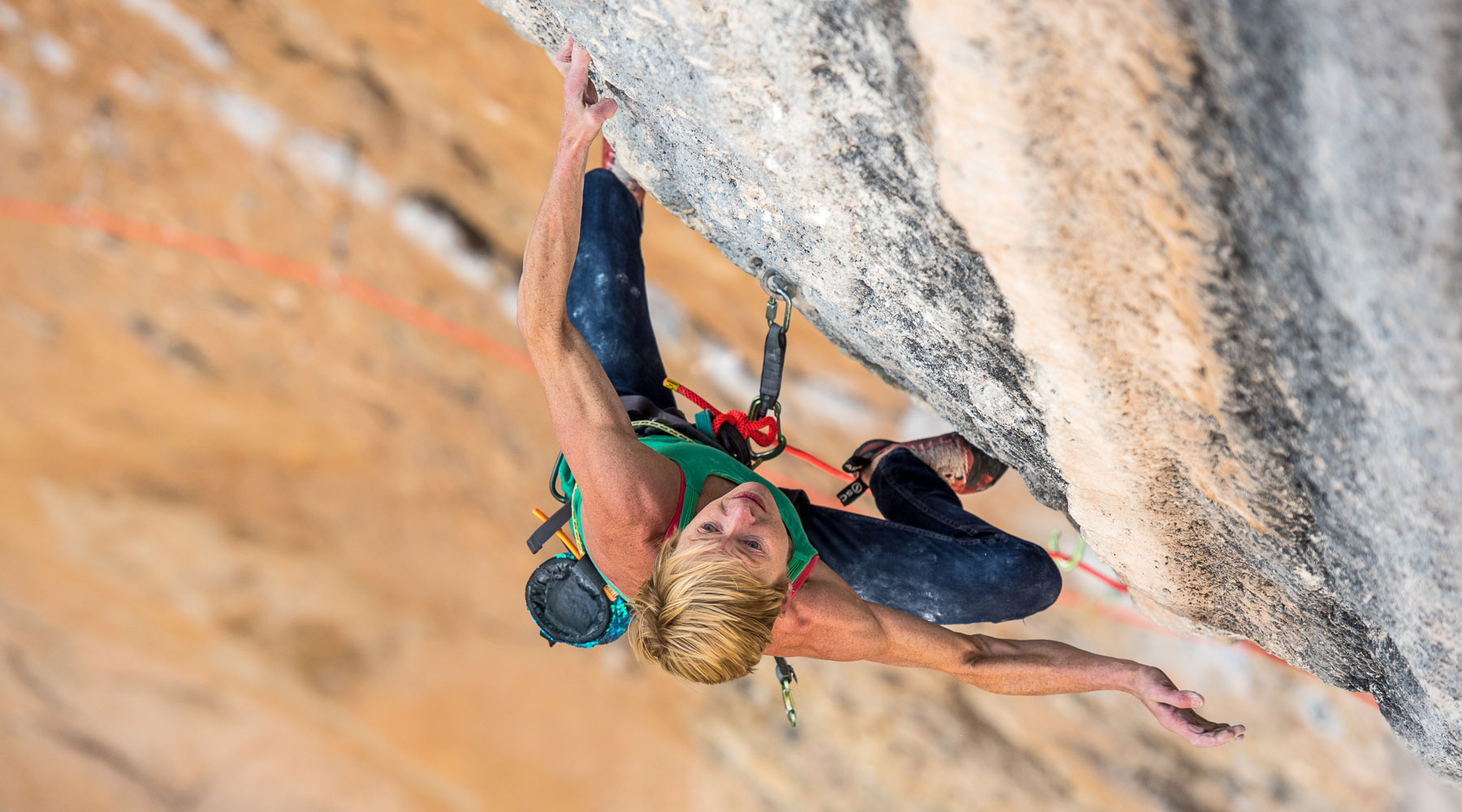 Monique Forestier, Mind Control (8c+, 34), Oliana, Spain.