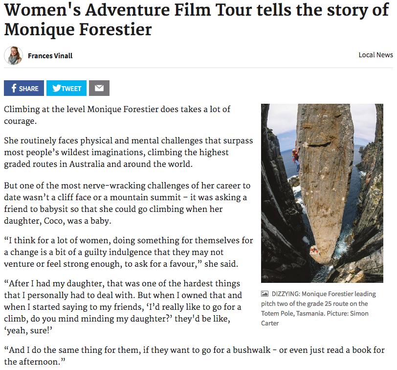 Women's Adventure Film Tour tells the story of Monique Forestier