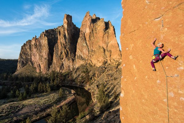 Monique Forestier, To Bolt or Not to Be (14a), Smith Rock, Oregon, USA.